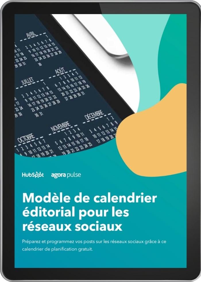 template calendrier social media